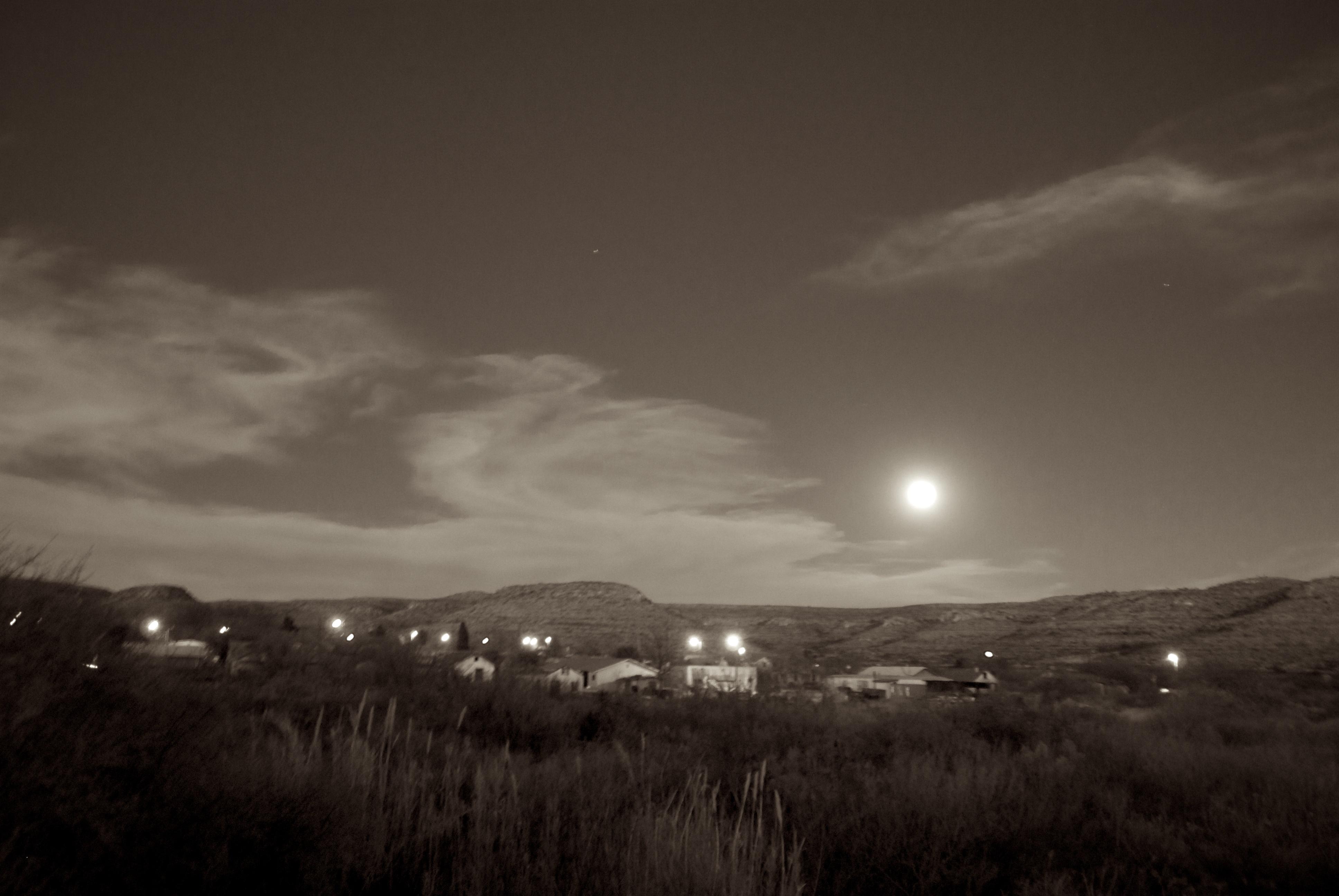 Sanderson Texas 2010 Moonrise Over Sanderson Homage To Ansel
